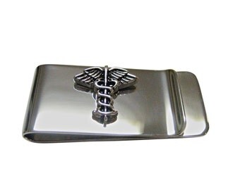 Caduceus Medical Symbol Money Clip