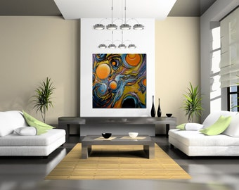 """Large Giclee Print of Original Abstract Painting- """"Likeness II"""""""