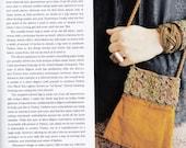 Mustard-color Silk Velvet Ottoman Fabric Handmade Handbag w/ Silver Filigree -- Belle Armoire feature