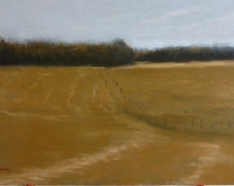 Landscape painting - Hay Field