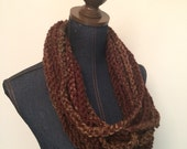 Crochet Strand Scarf in Forest
