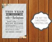 Not too Christmassy Christmas Card