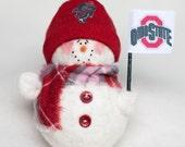 Ohio State Buckeyes Snowman Ornament
