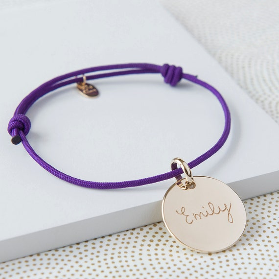Children's Personalized Bracelet Disc Friendship - Merci Maman Jewellery Gift for friends, teens, kids in Sterling Silver or 18K Gold Plated