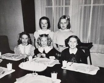 Original Vintage Photograph Girls Night 1950