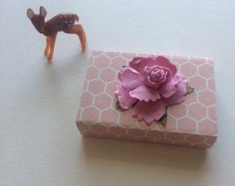 Mini Gift Box, Keepsake Box, Gift For Little Girl Stocking Stuffer Gift Tiny Gift Box Ready To Ship