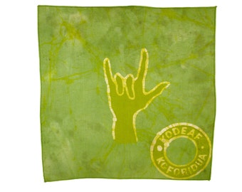 ASL Batik Wallhanging - I LOVE YOU - Wax Print -  Supporting the Deaf