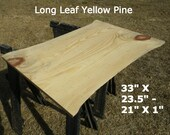 Live Edge Pub Table Top, Finished Yellow Pine Wood Slab, Natural Edge Table Top, Work Station Desk Top, Kitchen Table, Coffee Table 2075