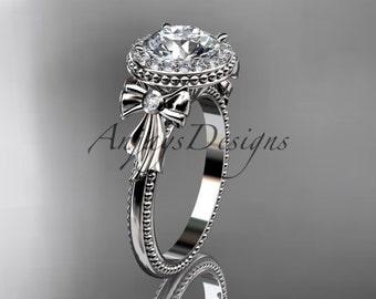 platinum diamond unique engagement ring, wedding ring ADER157