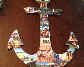 """Custom 20"""" Wooden Anchor 1/2"""" Thick, Personalized Gift, CUSTOM Shape can be MADE"""