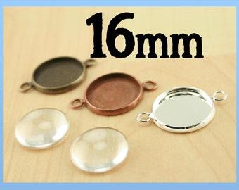 16mm 100 Connector Links, Earring Dangle or Charm Links. 16mm. Great for bracelet, anklet, DIY. ...