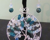 Winter in The Park - Tree of Life Pendant or Brooch Iconic Central Park Horse and Carriage