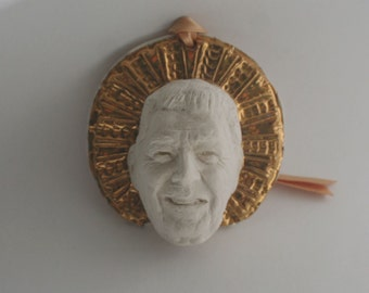 "Ronald Reagan, ""St. Reagan"" Ornament, Porcelain and Gold"
