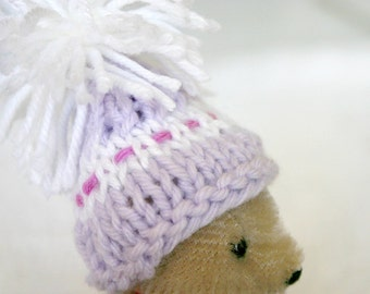 Miniature Hat- Knitted Mini Cap- Egg Cozy- Doll, Pets, Teddy Bear Hats- 2.5 Inch Wide- Ready To Ship