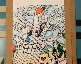 Card  happy tree