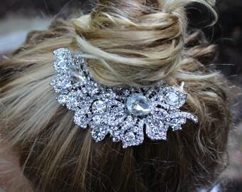 Vintage Bridal Hair Comb / Swarovski Rhinestone Hair Comb / Flower girl Haircomb / Mother of the Bride Hair Comb / Hair Comb