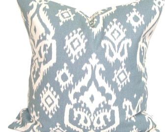 HOME Decor.Slate Gray Pillow .16x16 inch.Decorative Pillow Cover. Slate Gray.Grey.Ikat.Cm.Cushion Cover.Cushion.Grey Ikat.