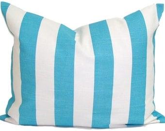 BLUE Lumbar Pillows.Pillow Covers.Nautical.Sea Cushion.Beach Decor.Decorative Pillows.Housewares.Blue Cushion.Stripe Pillow. Stripe Cushion