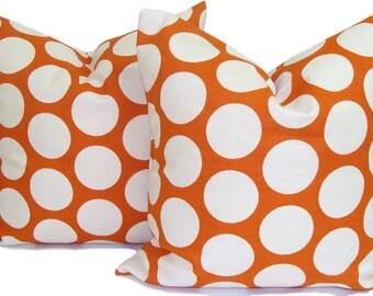 ORANGE PILLOWS.Set of Two18x18 inch.Orange Throw Pillows.Decorative Pillows.Burnt Orange Pillow Covers. Orange Cushion Covers.Fall Decor, cm
