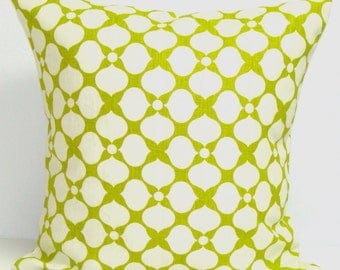 GREEN PILLOW Cover.20x20 inch Decorative Pillow Cover,Green Pillow..Accent Pillow.Toss.Lime Green.Linen.Chartreuse.Floral.Pillow.Cushion.cm
