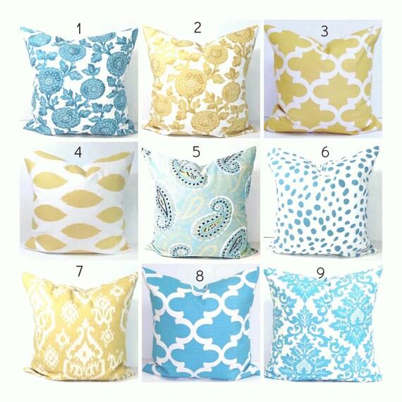 yellow gold decorative pillows