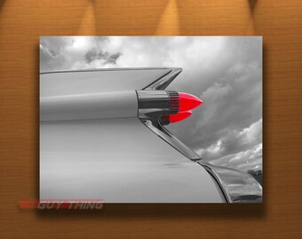 Cadillac Tail Fins, Photography Print, Gift for Guys, Cadillac Picture, Boyfriend Gift, Cadillac Photography, 50s Cars, Car Art Photo
