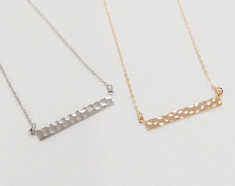 Bar Necklace, simple bar necklace,best friend,christmas gift, gold bar necklace, silver bar necklace, bridesmaid gift