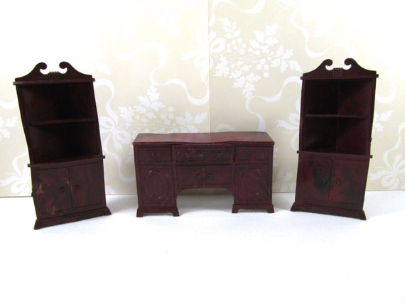 dollhouse dining room furniture dollhouse corner cabinets and dining