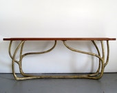 Artisan Console Table - Sculpted Brass Base