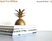 "ON SALE Brass Pineapple Candleholder Lid | 10"" Pineapple Top 