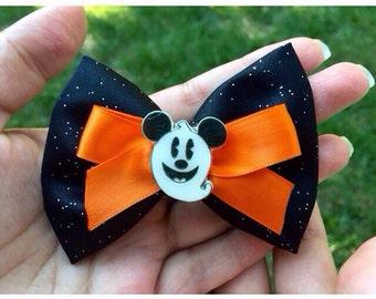 SUPER SALE Tokyo Disney Inspired Halloween Mickey Bow