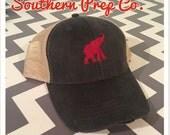 Alabama or Elephant Distressed Trucker Cap