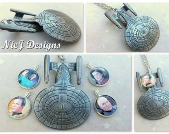 Star Trek Enterprise 3D Pendant and Resin Charm