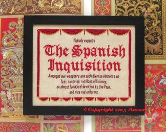 Monty Python Cross Stitch Spanish Inquisition Pattern PDF