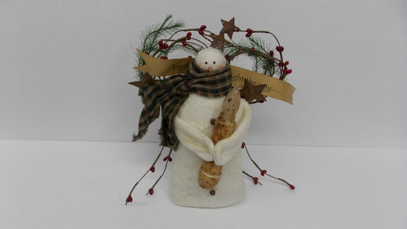 Primitive Light the Way Angel Prim Christmas Holiday Decoration