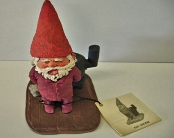 """Gnome Figure """" Ready For Bed Time"""" With Original Tag Mint condition"""