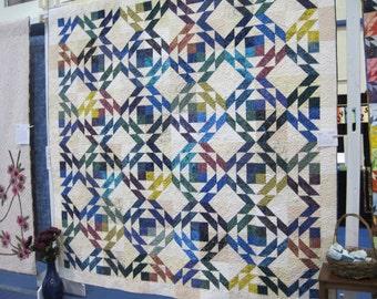 Queen size multi-color quilt
