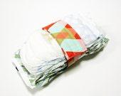 Triangle Diaper Strap - Coral Mint Gold Geo Triangle