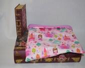 Pink Princess Cotton with Lavender Fleece Snuggle Bag