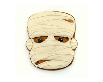 Decorated Cookies - Halloween - Mummy - 1 dozen
