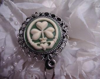 Irish Claddagh Celtic Badge holder id lanyard school teacher nurse unique four leaf clover