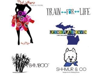 Custom Logo Design - Business Branding  - Social Media - Blog Logo - Logo Design - Photography Logo  - 2 stationary items included