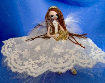 Angel doll first communion gift Baptism gift Christmas ornament