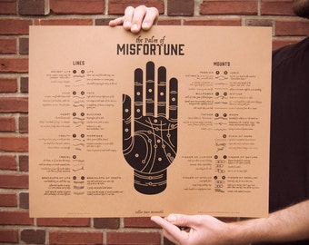 Palm of Misfortune Screenprint