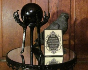 """Raven Claw ~ """"Obsidian Scrying Sphere"""" ~  Full moon, crystals, altar, ritual, magick, spells, apothecary, scrying, divination, natural"""