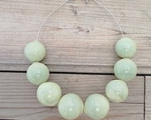 camo green choker bubble glass statement necklace