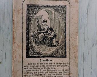 Antique German Prayer Book - Wegweiser für Confirmirte Christen by L.B. Dietrich - 1878 - Paperback