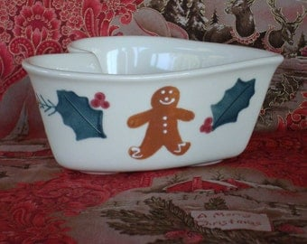 Christmas Heart Bowl - Hartstone Gingerbread Man Bowl
