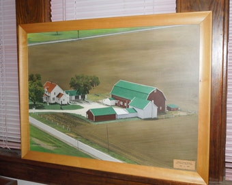 Vintage Mid Century Wisconsin Veldboom Family Farm Photograph Large Farm Picture