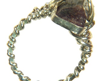 Sterling Silver Wire Wrapped Watermelon Tourmaline Ring (size 4.5) 3498E be